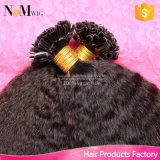 Fusion U Tip Extensão de cabelo humano Flip Colorido cabelo 100% cabelo virgem brasileiro Kinky Straight Keratin Capsule U Tip Hair Extension