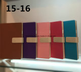 Cuaderno de cuero vendedor caliente de encargo de la PU del Hardcover chino
