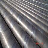 La norma ISO9000 SSAW Ronda en espiral del tubo de acero al carbono soldadas