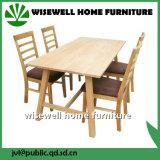 Tabella della sala da pranzo di legno di quercia con 4 presidenze per mobilia domestica