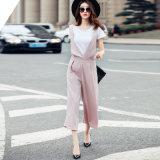 2016 pantalons larges de patte de Palazzo de femmes de carrière élevée occasionnelle de taille desserrent le pantalon en gros
