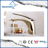 Faucet do punho da bacia de bronze preta do banheiro único (AF2261-6B)