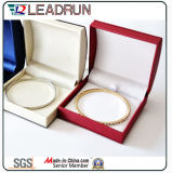Caixa de presente de couro da embalagem do pendente da pulseira da caixa de armazenamento da jóia do plutônio (YS334A)