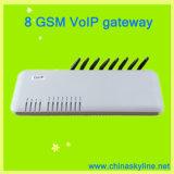 Passagem sem fio fixa da G/M VoIP da canaleta do terminal 8 (GoIP-8)