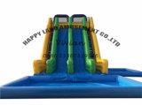 Diapositiva inflable gigante con la piscina movible