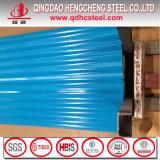 Toiture en acier galvanisée ridée de couleur de matériau de construction