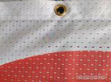Grande bandiera esterna della maglia di Fbaric del poliestere di sublimazione della tintura con la bandiera della maglia degli occhielli dei gommini di protezione