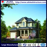 Termómetro de luz de casa modular de prédios de dois andares