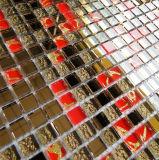 ミラークリスタルガラスモザイク、カットスクエアガラスタイル、ガラスモザイク