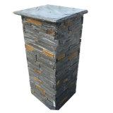 Coluna natural do cimento da pedra da ardósia (SMC-PC009)