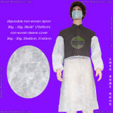 Medical 또는 Hospital/PP+PE/PP/SMS/Polypropene 방수 Nonwoven/Plastic/Polyethylene/Poly/HDPE/LDPE/PVC Disposable PE Apron, Disposable PE+Tissue Paper Dental Bib