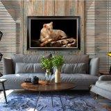 Оптовая картина маслом украшения высокого качества, домашняя картина украшения, картина искусствоа (львы)
