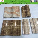 Folha de mármore de imitação do PVC produzindo a maquinaria/maquinaria de pedra do perfil