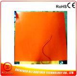 calentador flexible eléctrico modificado para requisitos particulares 120V del caucho de silicón de la talla y del vatiaje y de la dimensión de una variable