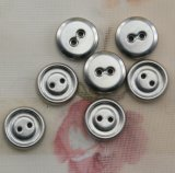 Il Fashion ABS Plating Shiny Sliver 2-Holes Button