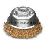 Balai de fil d'acier Laiton-Enduit de cuvette de cuvette