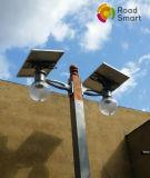 Rue solaire réglable Gardenlight du panneau solaire DEL de détecteur de mouvement