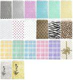 シェブロンプリントペーパーギフトの売買の紙袋、カラー折りたたみによってカスタマイズされる紙袋、紙袋の印刷のロゴまたはWebaddress TXT