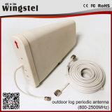 Het openlucht Gebruik van de Periodieke Antenne van het Logboek voor de Mobiele Repeater van het Signaal