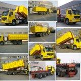 Sinotruk 6X4 훅 팔 쓰레기 트럭