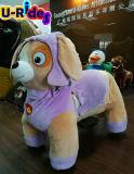 automobile animale a gettoni del giocattolo di giro del kiddie farcita peluche elettrica