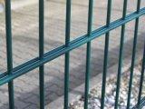С покрытием из ПВХ парных проволочное заграждение двойной проволочной сеткой ограждения