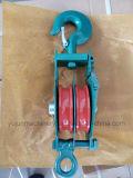 Abrir o tipo bloco de polia dobro da polia com gancho
