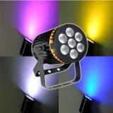 RGBW 4NO1 7LEDs LED de 8 W*PAR pode a luz para a etapa