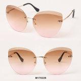 Óculos de sol Rimless da forma do olho de gato