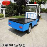 2t小さい小型電気ロジスティクスの交通機関の平床式トレーラーロードトラック