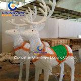 Crystal LED de trineo de renos de Navidad decoración (BW-SC-248)