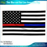 American Polyester Black White Thin Blue Line Drapeau de police (J-NF05F09328)