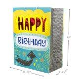 Sac de cadeau d'anniversaire, sac de papier de cadeau, sac de papier d'emballage, sac de papier de achat