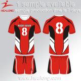 Conjunto de equipa personalizada Healong Sublimação Uniforme Barata Jersey Rugby