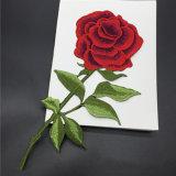 ローズの花は衣類ファブリックパッチワークのアップリケの段階の服の装飾のためのパッチのパッチの鉄を刺繍した