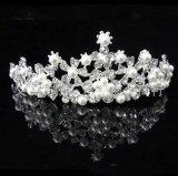 Мода Pearl Princess Crown головная стяжка Заколка свадьбы невесту Tiara аксессуары