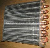 Abkühlung-kupfernes Gefäß-gerippter Aluminiumkondensator für Wasser-Zufuhr