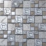 ダイヤモンドクリスタルミックスステンレススチールモザイク、人気の新しいデザインメタルモザイク、クリスタルモザイク