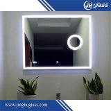 Rectángulo de bastidor de aluminio espejo con retroiluminación LED con sensor táctil