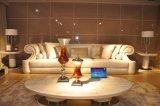 Italienischer Entwurfs-Luxuxwohnzimmer-Leder-Sofa-Set
