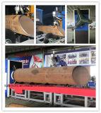 Tipo máquina da base do rolo de estaca da tubulação de aço do plasma do CNC