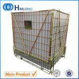 工場のための産業折りたたみおよびスタック可能金網のケージの容器
