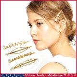 Barrette simulado dos pinos e dos grampos dos acessórios do cabelo da pérola no ouro