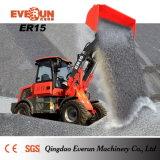 Chargeur 1.5ton approuvé de la CE d'Everun petit avec Rops&Fops