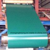緑海の青カラーのCRCカラー上塗を施してある鋼鉄