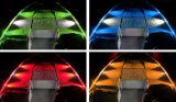 Hot Sale 36W 3600lm 4PC / Set RGB Bluetooth Controller LED Rock Light para ATV UTV Car, Trucks