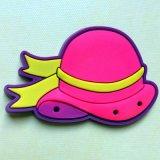 Розовый стикер магнита холодильника формы шлема для украшения