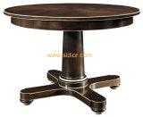 (CL-3323)家具の円形の木のダイニングテーブルを食事する旧式なホテルのレストラン