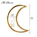 삼각형 달 금에 있는 주조 합금으로 만드는 머리 핀