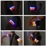 Bracciale riflettente ambulante pareggiante di riciclaggio del bracciale LED di sicurezza del LED